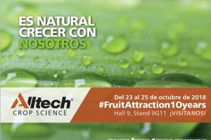 La división Crop Science de Alltech Spain, estará un año más en Fruit Attraction ¡Visítanos! > Hall 9 Stand 9G11
