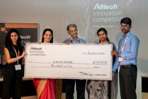 The Central Institute of Fisheries Education team won first place at the second annual Alltech Innovation Competition held in Bangalore, India. They were awarded for their innovative project to make aquaculture, especially shrimp farming, cleaner and greener.