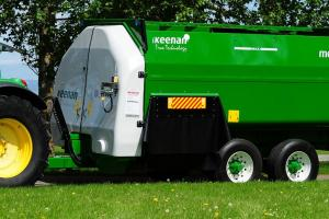 """The Keenan farm mixer wagon, also known as a """"green machine,"""" has earned a reputation for its reliability and service. Keenan mixer wagons, together with InTouch technology are designed to deliver the optimal on farm feed mix consistently. Alltech confirmed its acquisition of Keenan today; Keenan is the 14th acquisition for Alltech globally since 2011."""