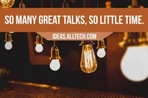 So many great talks, so little time.