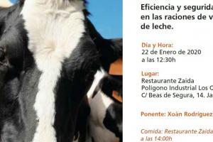"""Jornada Técnica """"Eficiencia y seguridad de las raciones de vacas de leche"""" - 2020"""